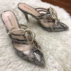 Bebe Heels Shoes Orla Crocodile Sz 7